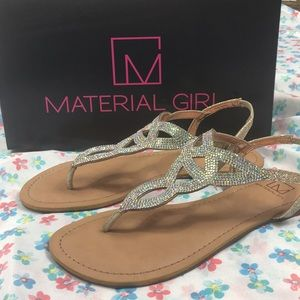 Material girl sparkly sandals